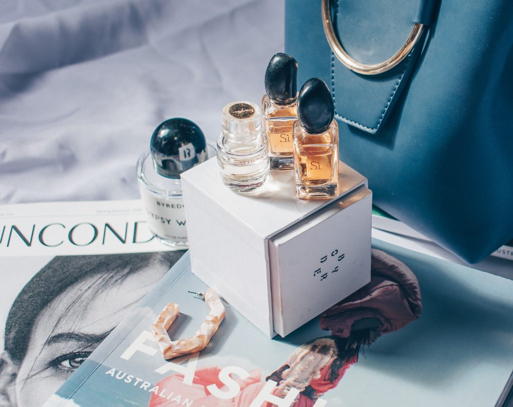 Beauty PR perfumes and magazine